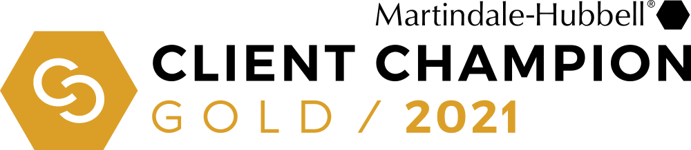 Martindale-Hubbell Client Champion Gold Award 2021